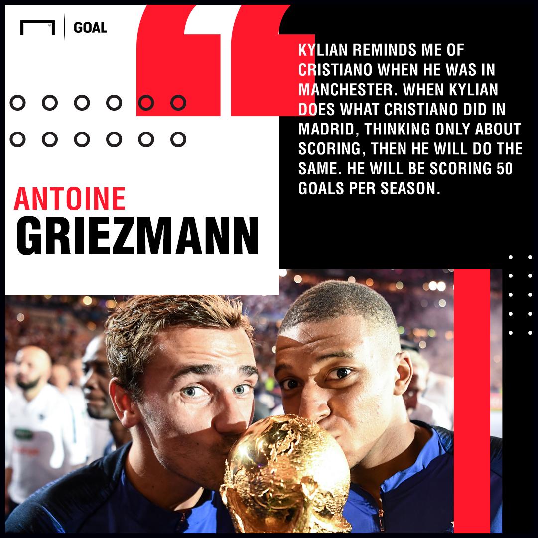 Kylian Mbappe like Ronaldo Antoine Griezmann