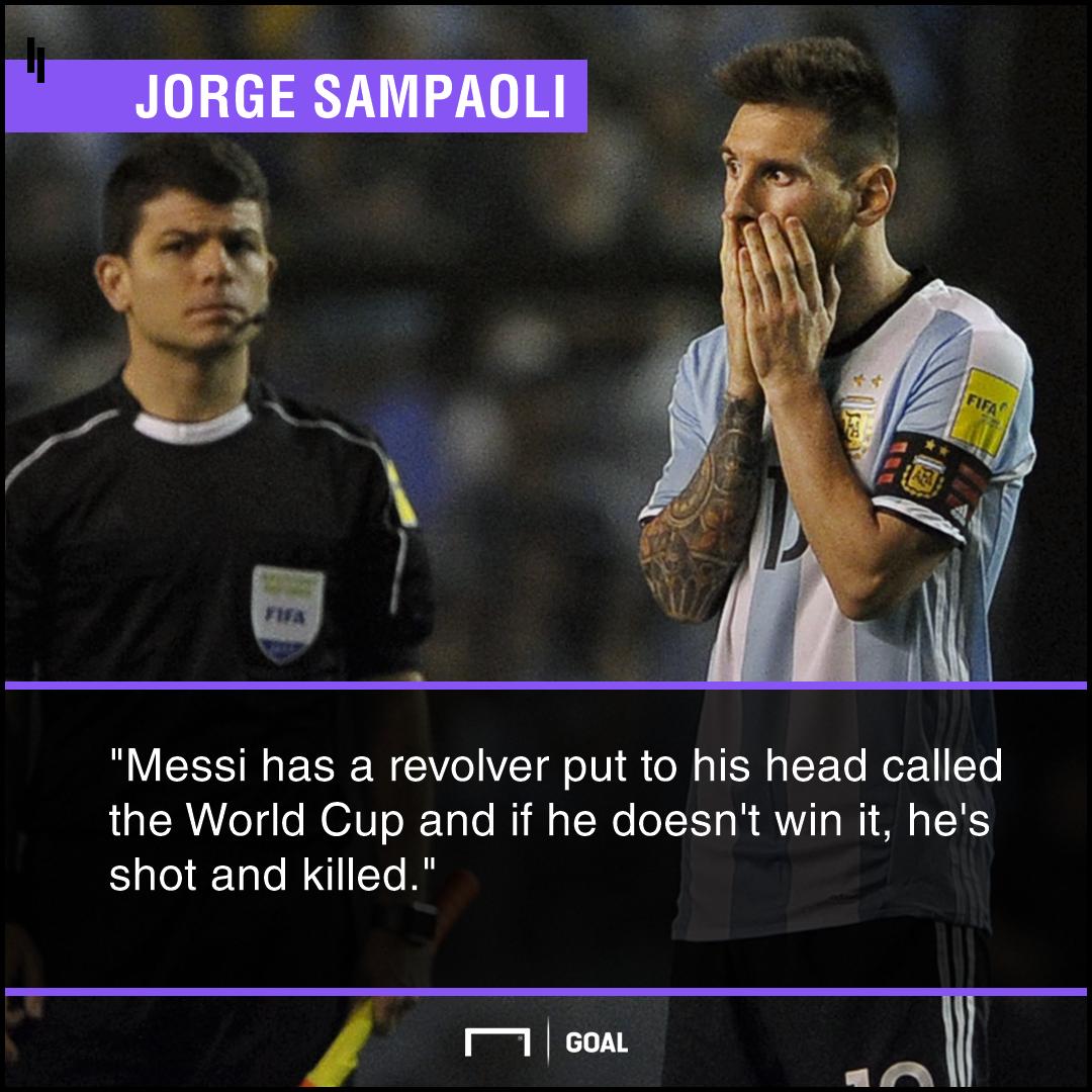 Lionel Messi World Cup revolver Jorge Sampaoli
