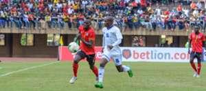 Uganda Cranes in action.