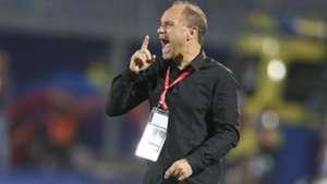 Harambee Stars and Kenya coach Sebastien Migne.