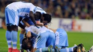 Lazio celebrates Alessandro Murgia goal against Vitesse UEL 14092017