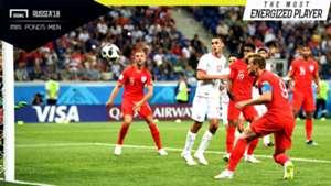 Most Energized Player Tunisia vs Inggris Harry Kane