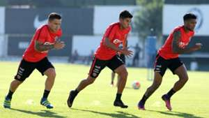 Álvaro Ramos Rafael Caroca Junior Fernandes Chile training 281216