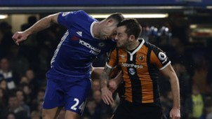 Ryan Mason Gary Cahill Chelsea Hull City Premier League