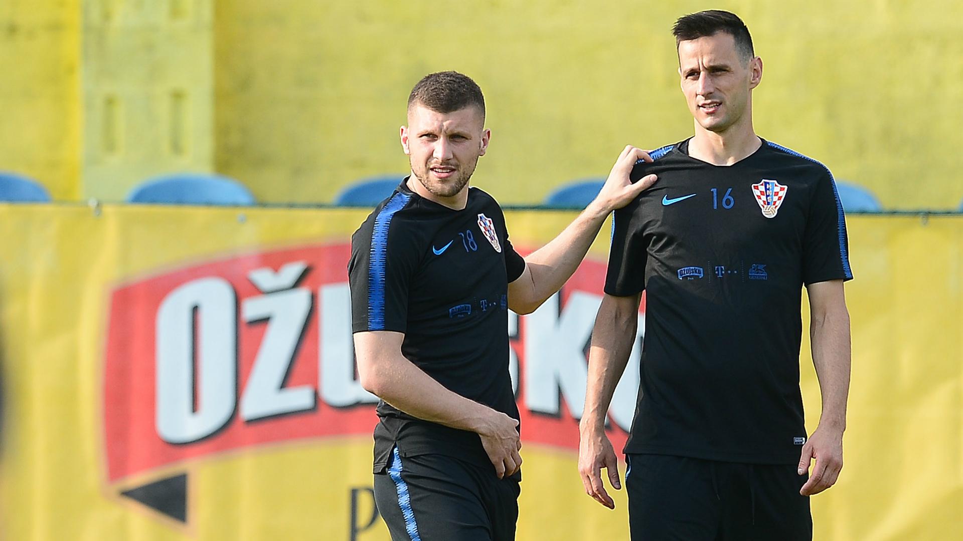 Ante Rebic Nikola Kalinic Croatia training
