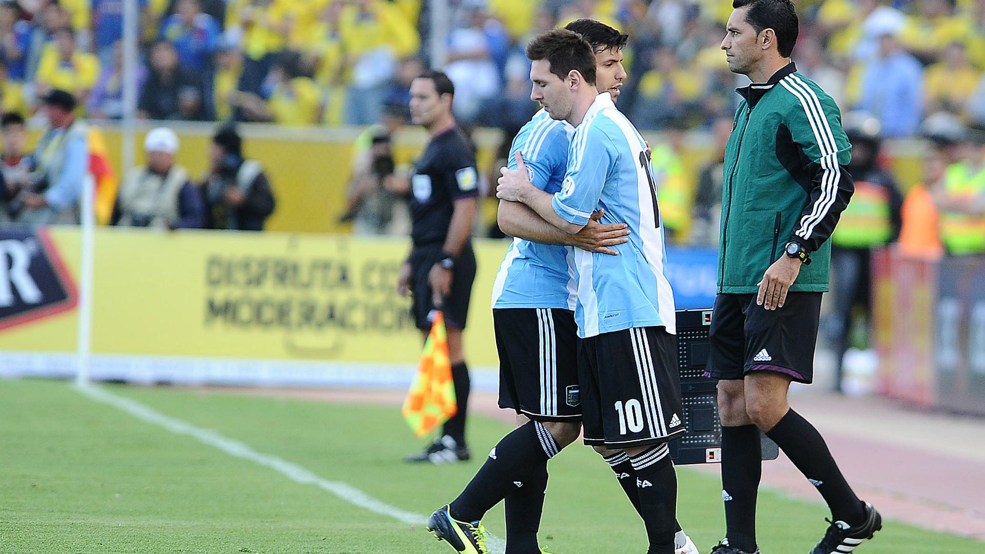 Lionel Messi Sergio Aguero Ecuador Argentina Eliminatorias 2013