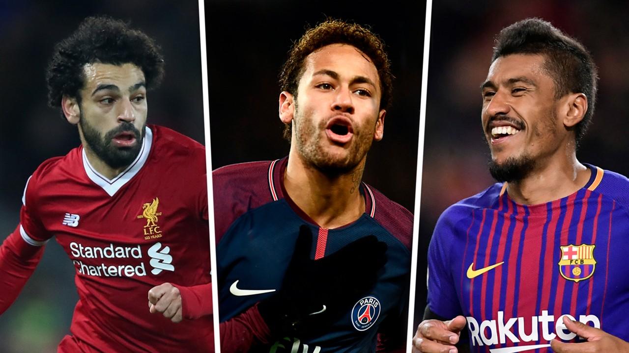 Salah, Neymar, Paulinho