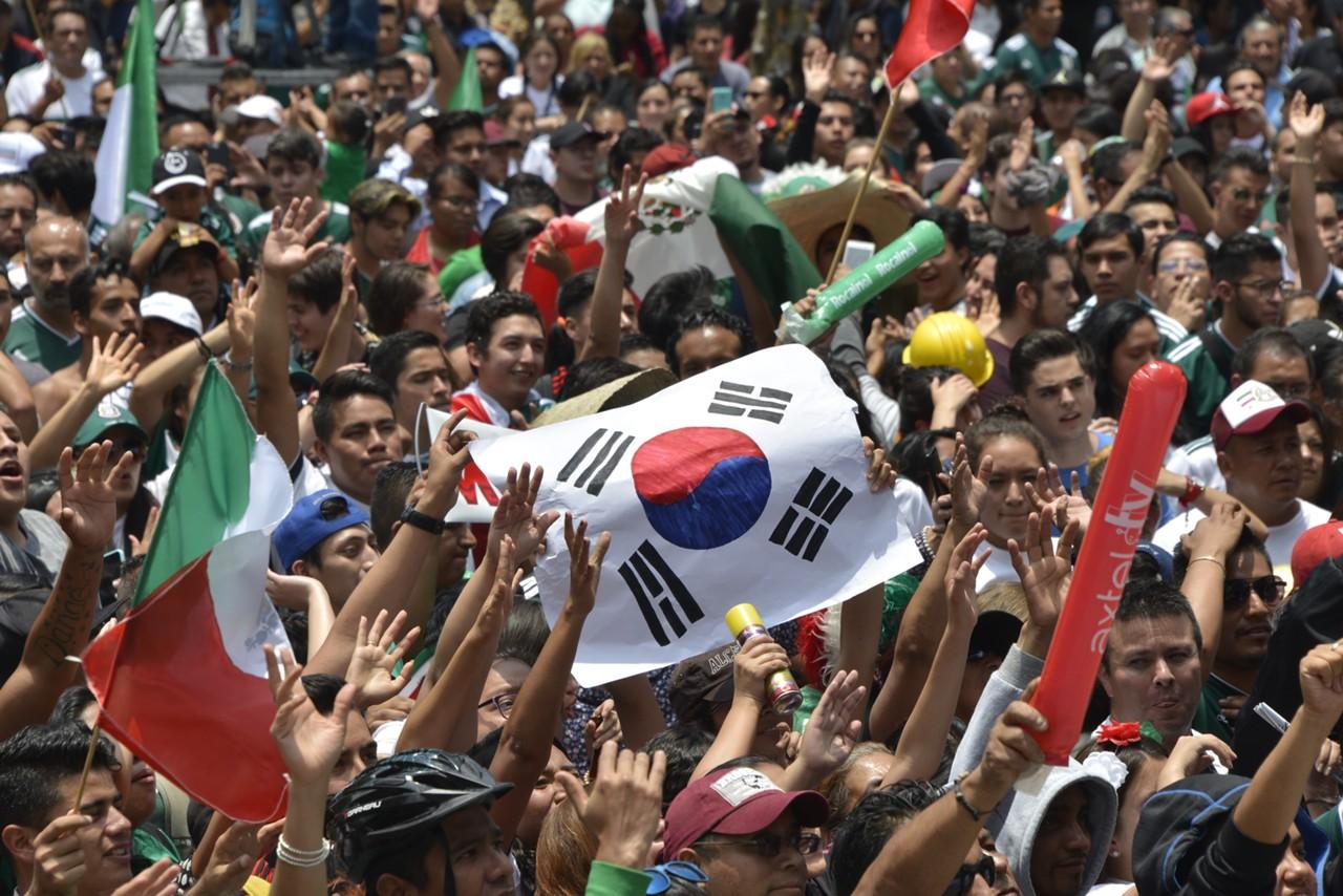 Image result for คนเม็กซิโกบุกขอบคุณสถานทูตเกาหลีใต้