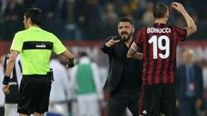Gennaro Gattuso Leonardo Bonucci AC Milan Coppa Italia 2018