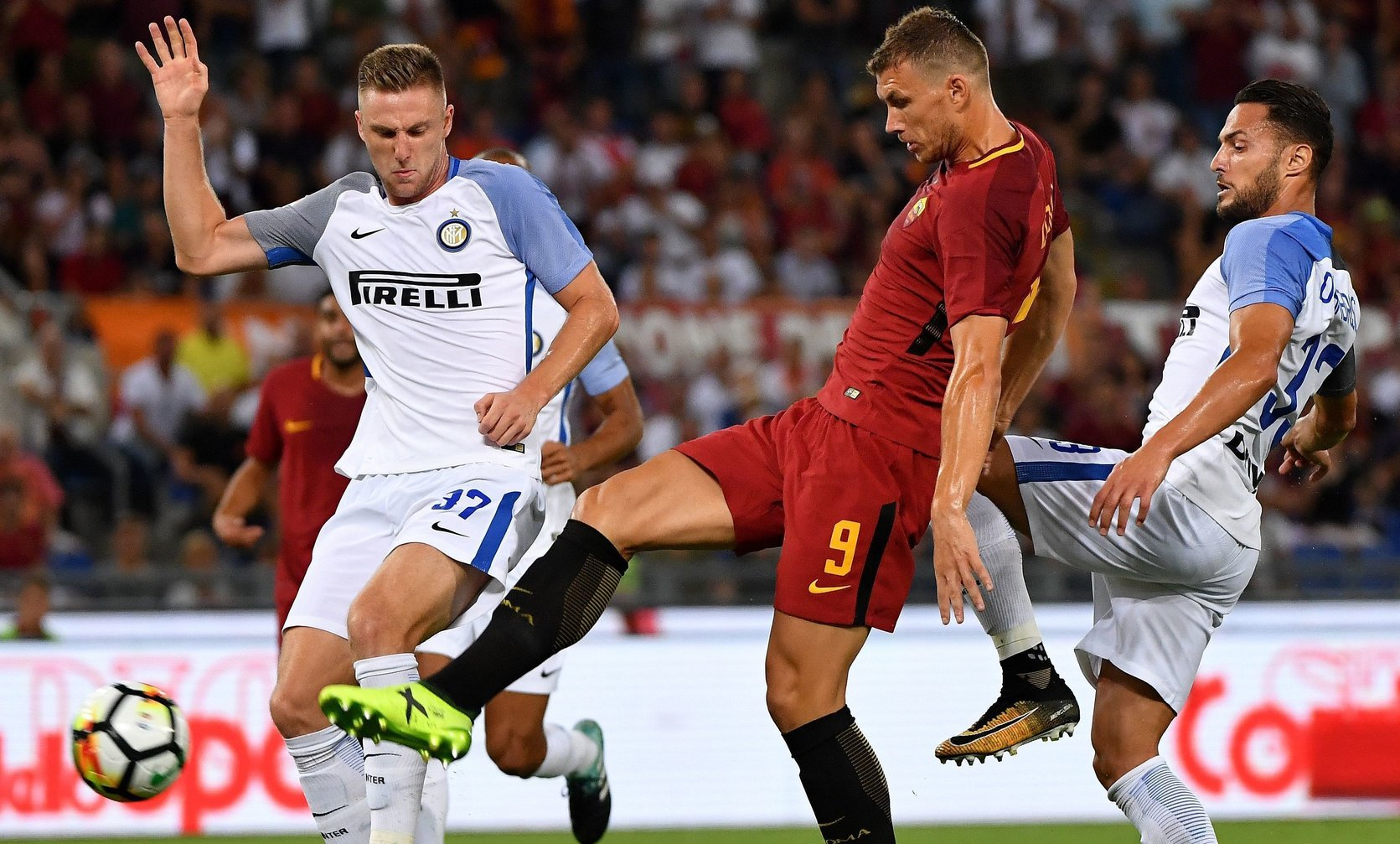 Edin Dzeko, Inter vs. Roma