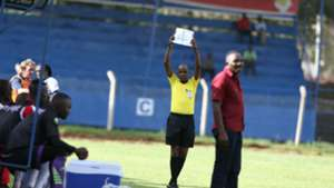 Piece of paper used to substitute players in AFC Leopards - Ulinzi Stars