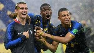 Antoine Griezmann Paul Pogba Kylian Mbappe France 2018