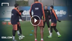 GFX Lionel Messi training