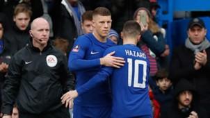 Ross Barkley and Eden Hazard at Chelsea