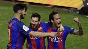 Lionel Messi Neymar Barcelona Alaves Copa del Rey final