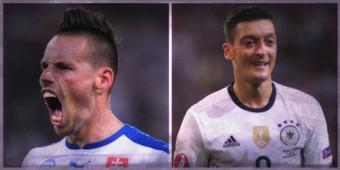 Ozil vs Hamsik, le duel