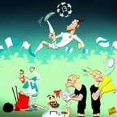 Real Madrid Champions League Win Cartoon