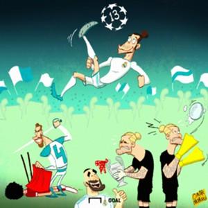 Real Madrid Champions League Win Cartoon