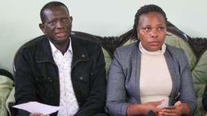 Mathews Opwora of AFC Leopards and Susan Wamalwa.
