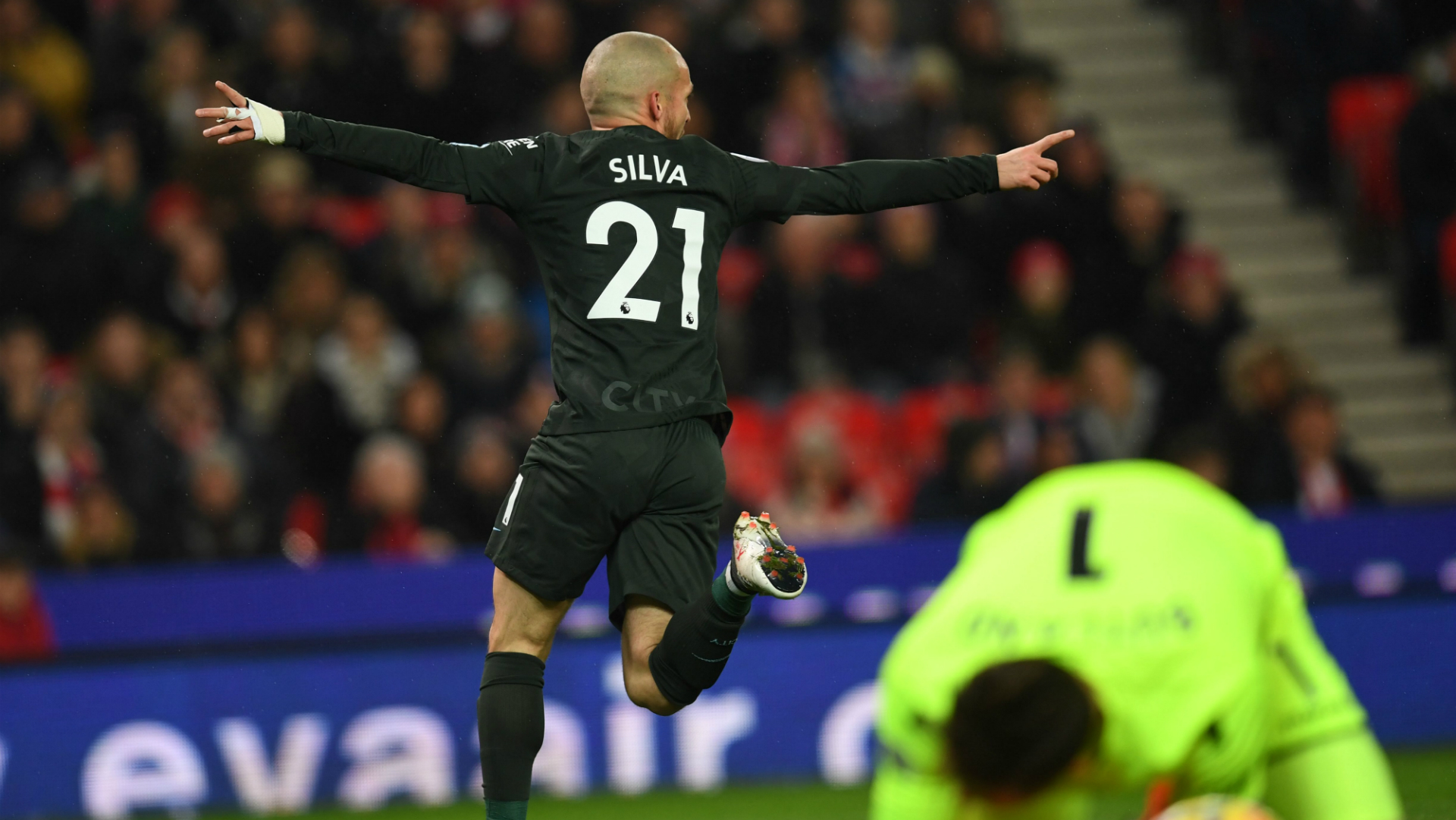 David Silva Manchester City Stoke City