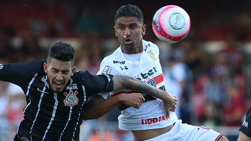 Tréllez e Pedro Henrique - São Paulo x Corinthians - 25/03/2018