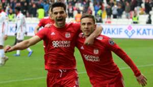 Muhammet Demir Sergiy Rybalka Sivasspor Goztepe Goal Celebration Turkish Super League 12/08/18