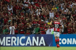 Diego e torcida do Flamengo