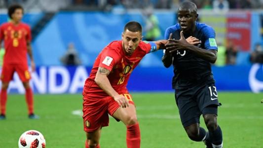 N'Golo Kanté Eden Hazard France Belgium