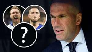 Christian Eriksen Eden Hazard Zinedine Zidane Real Madrid