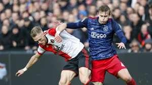 Matthijs de Ligt, Nicolai Jörgensen, Feyenoord - Ajax, 22102017