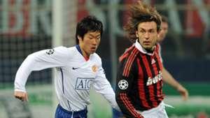 Park Ji-sung Andrea Pirlo Manchester United AC Milan