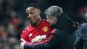 Anthony Martial Ole Gunnar Solskjaer Manchester United