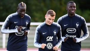 Mamadou Sakho Lucas Digne Kurt Zouma France training 10082018