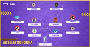 GFX Anselm Noronha I-League 2017-18 Team of the Season