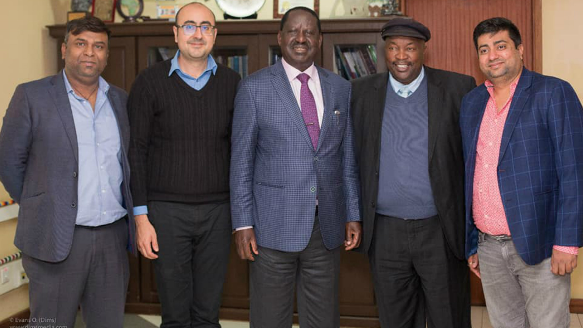 Sono Jomo and Raila Odinga.