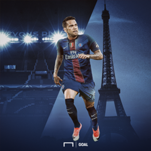 EMBED ONLY Dani Alves Paris Saint-Germain PSG GFX