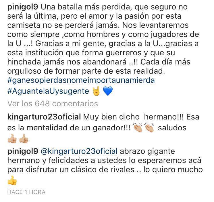 Mensajes entre Vidal y Pinilla