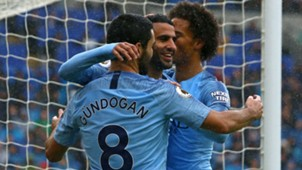 Riyad Mahrez Ilkay Gundogan Manchester City 2018-19