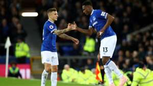 Yerry Mina Everton Premier League 2018