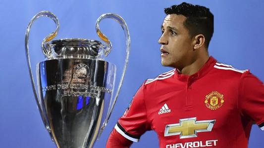 Alexis Sanchez Champions League Trophy Composite