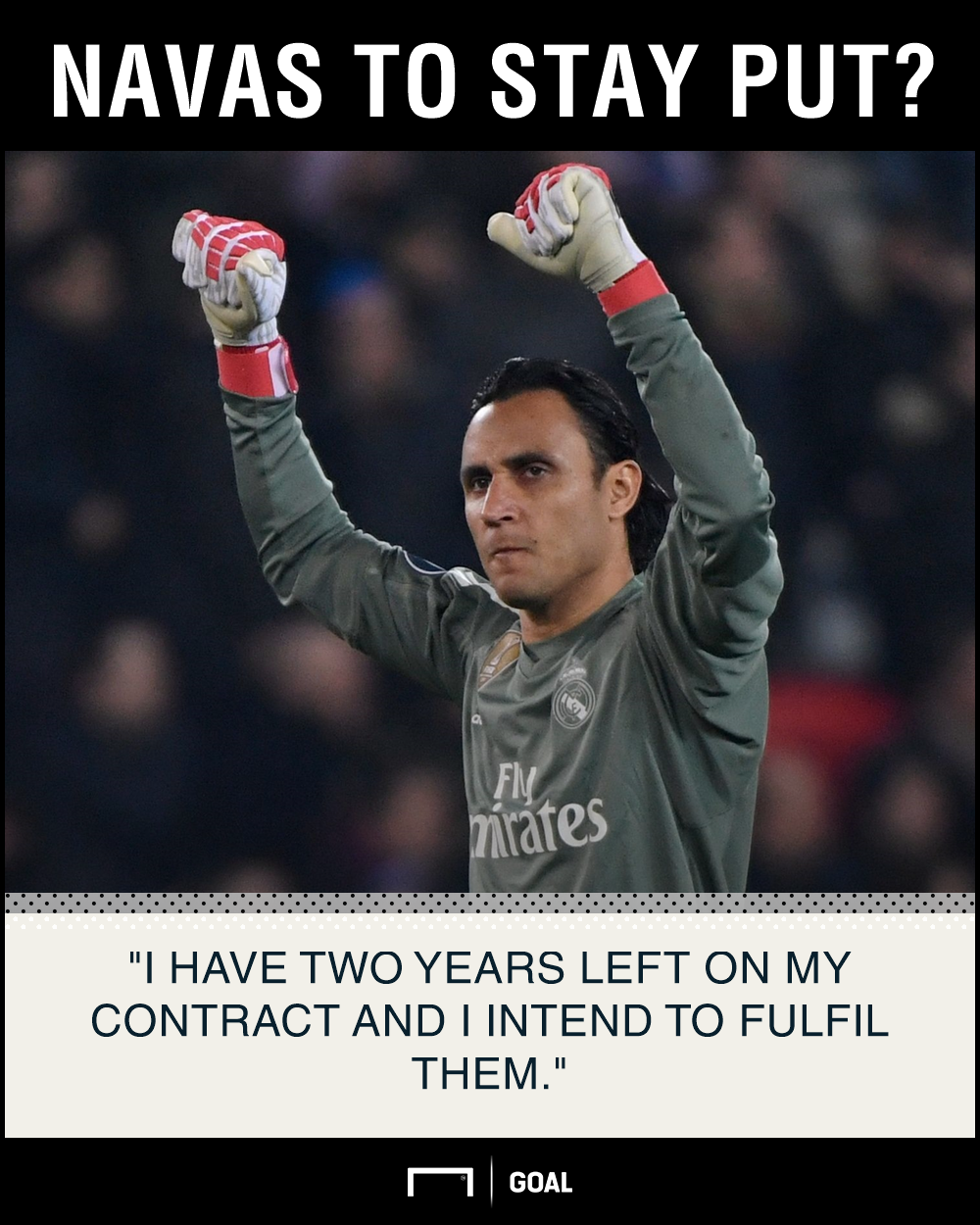 Keylor Navas Real Madrid stay