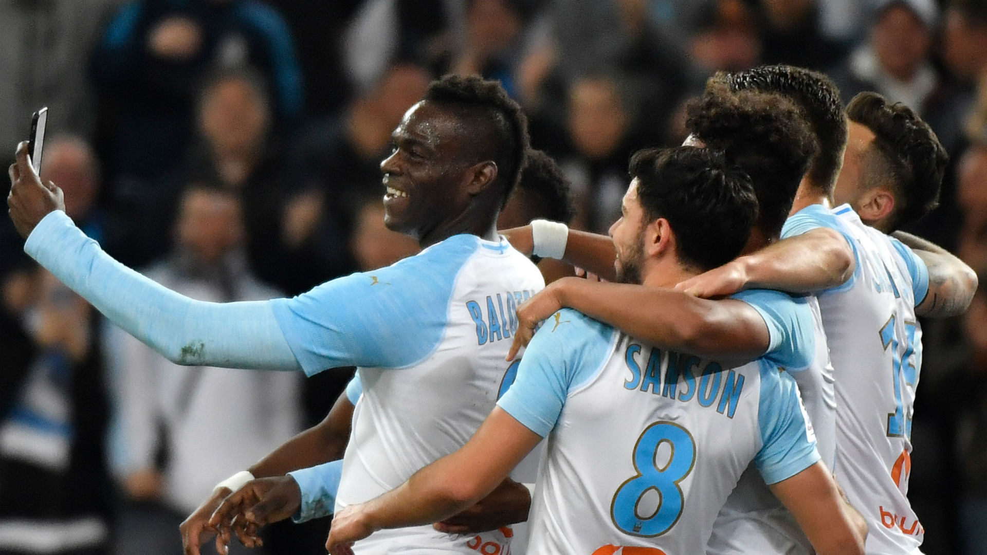 Mario Balotelli posted his goal celebration to Instagram right as it happened