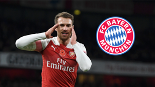 Aaron Ramsey Arsenal Bayern badge 2018-19