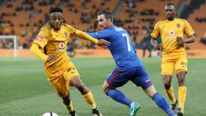 Hendrick Ekstein and Bradley Grobler - Kaizer Chiefs v SuperSport United