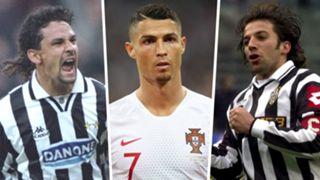 Roberto Baggio Cristiano Ronaldo Alessandro Del Piero Split