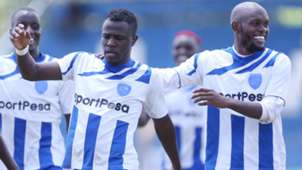 PAUL WERE of AFC Leopards and WHYVONNE ISUZA.