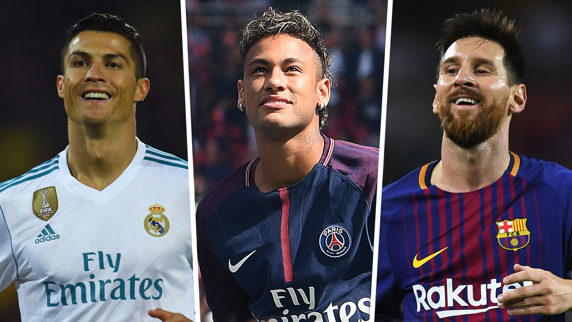 Ronaldo, Messi, Neymar