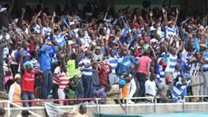 AFC Leopards fans at Kasarani.
