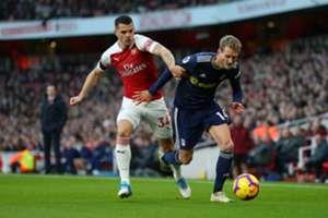 Xhaka Schürrle Fulham Arsenal
