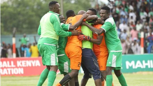 Gor Mahia players celebrate.
